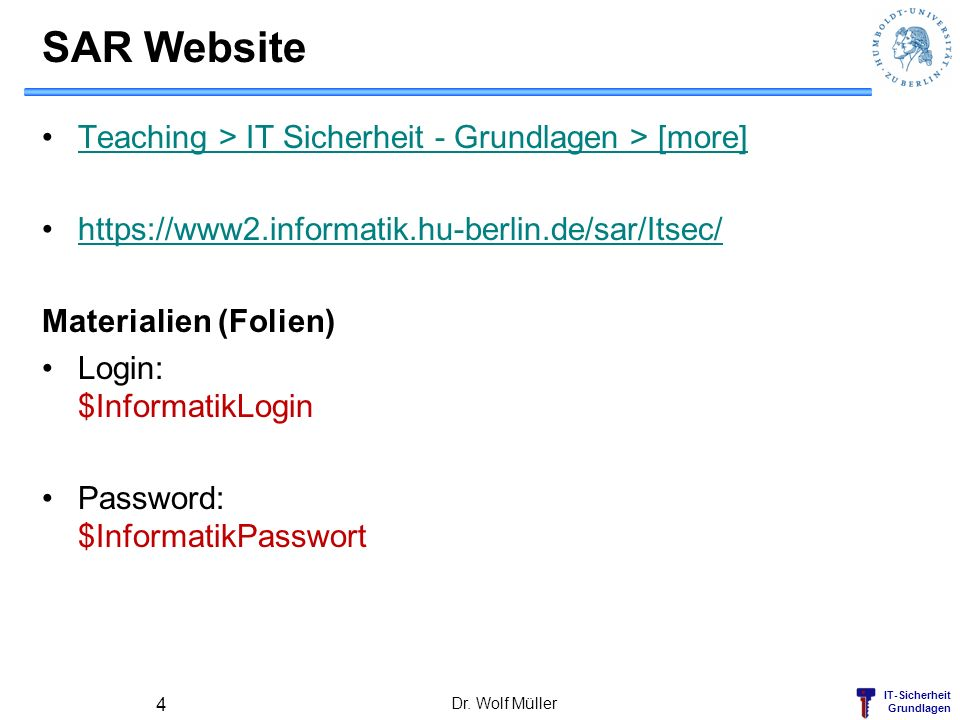 SAR Website Teaching > IT Sicherheit - Grundlagen > [more]